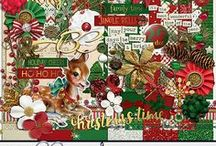 Merry & Bright / Digital Scrapbook Kit available at >> http://melidydesigns.com/shop