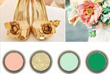 The Perfect Palette  / Color palettes perfect for your wedding!