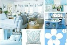 LIGHT BLUE Home  * Decor /  French * Pastel