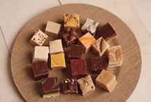 Fudge!!! / We make two styles of the BEST Fudge you will ever try!! One is the Old Fashioned Cream & Butter Fudge & the other is our Slab Fudge we whip up on our marble tables.