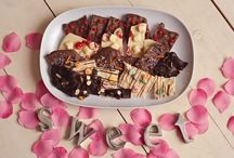 Gourmet Bark & Clusters / Handcrafted Gourmet Chocolate Bark & Clusters. Delicious Almonds, Peanuts, Pecans, Cashews, Rice Krispy (and other seasonal treat fillers) dipped in melt in your mouth...creamy rich White, Milk & Dark Chocolate.   www.hanselandgretelcandykitchen.com  1-800-524-3008