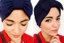 Blue turbans / A turbanista who loves fashion !