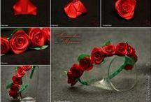 flores papel,cinta,tela,FOMY