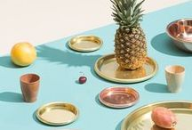 Summer Essentials / Hot, Shiny, Exotic and Wet Summer Inspiration Moodboard.