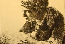 Art Old Engravings & Drawings