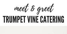 "Meet & Greet by Trumpet Vine Catering / Trumpet Vine Catering's ""Welcome"" Beverage Stations 