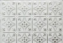 White Tin Tiles / Make your room feel ethereal and airy with beautiful white washed tin ceiling tiles.