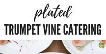 Plated Courses by Trumpet Vine Catering / Pretty Plates by Trumpet Vine Catering