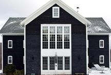 Houses in Scandinavian style