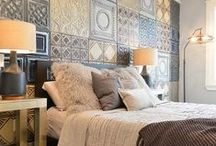 TIN | Bedrooms / Make your bedroom a sanctuary - with tin ceiling tiles.