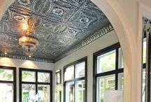 TIN | Living Room Ceilings / Create a living room to die for with beautiful tin ceilings.