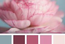 Summer chart / Eté / www.amandinebaron.com / Palette été / couleurs froides, pastels et douces, blush rosé, blondes, brunes, marron glacé, regard rêveur
