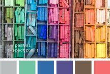 Spring chart / Printemps / www.amandinebaron.com / Palette Printemps / couleurs chaudes et froides, couleurs gaies, acidulées et petillantes, blush bonne mine pêche, tâches de rousseurs, rousses, blondes, brunes, regard lumineux