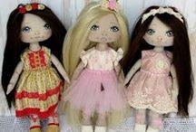 My dolls / textil babák,állatkák