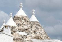Trulli, the traditional houses in Puglia region, Italy