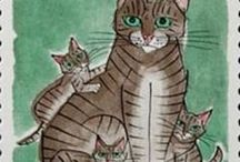 Cats on stamps