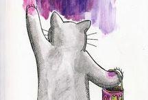 Cat Art / #cat art / by Mystikfish