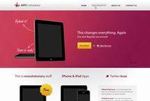 Web Design / inspiração, templates, modelos para me inspirarem na criação de sites