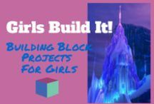 """Girls-Build This From Blocks! / Wooden blocks are not just for boys! Block play helps girls and boys develop important math, science and logic skills.See """"girl friendly""""ideas complete with step-by-step instructions of things girls will love to build from building blocks."""