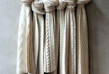 Skjerf,sjal / Knitted scarves