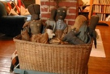 Folk Art Dolls/Primitive Dolls / I collect and create cloth dolls- folk art and primitive ones. Many of these pins are patterns... some I just like- Hmmm where category do I use? / by ridgely johnson