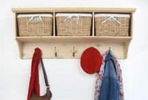 New in 2014! - The Dale Cloakroom Range / Beautiful coat racks and benches made from Pine or Acacia and featuring charming baskets for storage :)