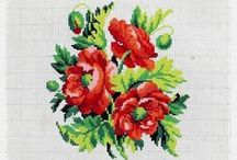 cross stitch - rose