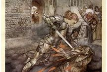 """Arthur Rackham """"The Romance of King Arthur and His Knights of the Round Table"""" (1917)"""