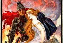 """H.J. Ford  """"The Book of Romance"""" edited by Andrew Lang"""