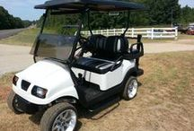 Golf Course Cars / Golf Cars and carts -golf course friendly, while some courses may have restrictions again some accessories.  The cars presented here are more scaled back.   Electric and gas golf cars and carts