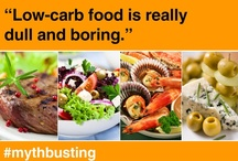 Carbophobic motivation posters / Motivation posters about diet, low-carb food and exercise.