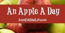 An Apple A Day / All things apple: | Apple Recipes | Apple Crafts | Apple Drinks | Apple Cocktails | Apple Desserts |