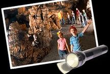 """Alabama Road Trip No. 12 Childersburg and Sylacauga: Family Fun / Take your family to explore a cave that's 12 stories deep. Eleven miles away, amaze them as your car rolls uphill, seemly defying the law of gravity. Along the way, you can see how ice cream is made and the location where """"stars fell on Alabama."""" This road trip takes you along U.S. Hwy. 280 between Sylacauga and Harpersville and includes a stop at a drive-in as well as a vineyard, where each September contestants dress up as if they are in an """"I Love Lucy""""."""