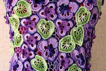 Háčkovaná móda / háčkované sukne, topy, vzory