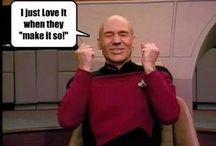 Star Trekkin' / Make it so.