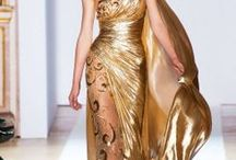 Gold / Collection of Gold Fashion, Gold Dresses, Everything with Gold, Clothing and Accessories...