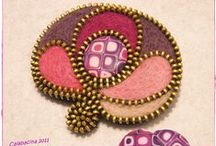 Jewellery..........Zips / Jewellery made with zips / by Mrs Mo