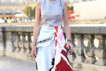 Paris fashion week - patterns & prints on streets