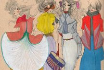 Retro inspirations in fashion illustration