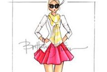 Brittany Fusion's illustrations of trendy outfits