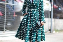 New York fashion week - patterns & prints on streets