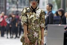 Tokyo fashion week - patterns & prints on streets