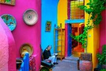 Colorful Home / Color pops  for home #decor #spanishhome