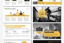 Slides / Referências de diagramação de powerpoints e apresentações em geral.