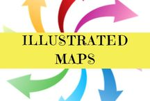 ILLUSTRATED MAPS / Illustrated maps! Just gorgeous and useful too'