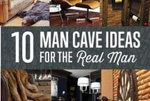 Home Decor - Man Cave / You can have so much fun decorating a man cave it's actually really exciting to simply think about it. A project like this offers a lot of possibilities.