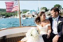Elegant Camden Yacht Club Wedding in Maine / Wedding Photographer: Meredith Perdue | Ceremony Location: Camden Amphitheatre | Reception Venue: Camden Yacht Club | Event Planning & Flowers: Beehive Creative Events | Catering: French & Brawn | Bartending: Mainely Bartenders | Lighting: Event Light Pros | Band: The Sultans | Cake: Sweet Sensations | Event Rentals: One Stop Event Rentals