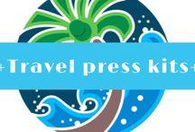+ Travel press kits + / Press kit ideas
