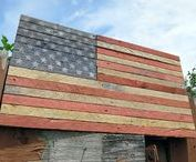 """Rustic American Flags / Rustic styled American Flag made from reclaimed lathe material. Dimensions: 26"""" long x 14"""" high x 1"""" thick https://www.etsy.com/listing/523451598/rustic-american-flag-independence-day"""
