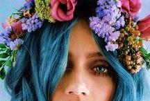 I N S P O | f l o w e r    o b s e s s i o n / Flower garlands, head bands, fresh flowers, floral, wedding hair ideas.. ..latest obsession